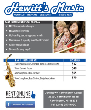 2018 Band Rental Flyer